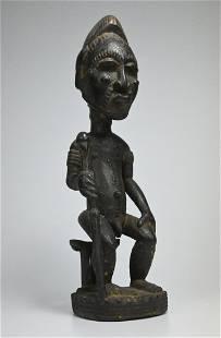 Baule Male Chieftan Effigy, African Art