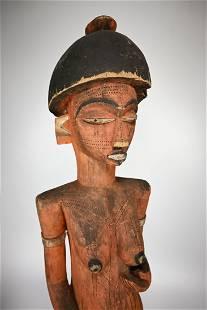Monumental Pende Female Ancestor Shrine Idol