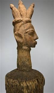 Monumental Yoruba Slit Gong, African Musical Instrument
