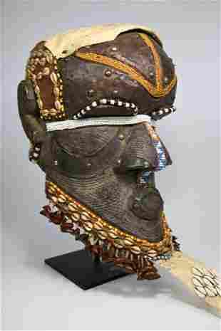 A Kuba Bwoom Helmet Mask Ex Schienberg 1985