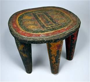 A Fine Old Nupe 6 legged stool