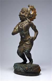 Antique Bronze sculpture of Hanuman Hindu Monkey King
