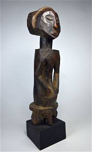 A Hemba Male Ancestor sculpture Ex Carl Zabel NY 1982