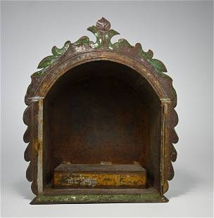 Antique Nicho Religious Shrine from Mexico Ex Dr Healy