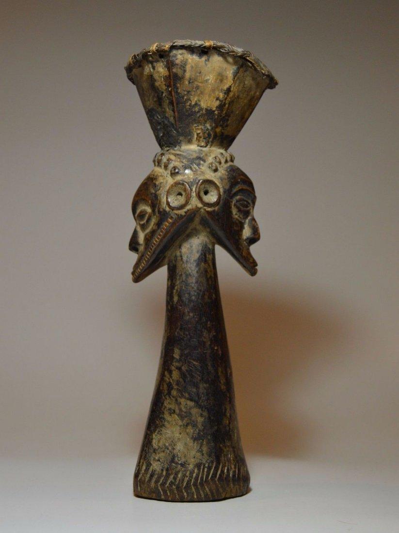 Kusu Janus Male & female Magic fetish sculpture - 4