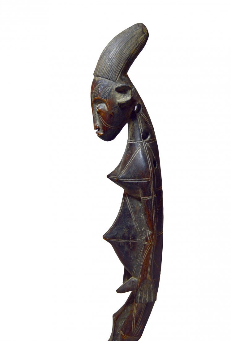 A Fine Mangbetu Harp , African Musical Instrument
