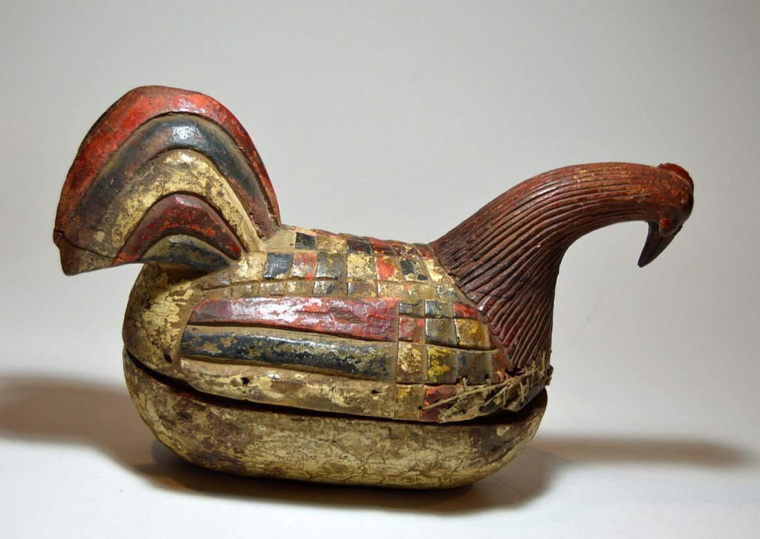 Old Yourba Ceremonial Kola Nut container, Rooster form - 5