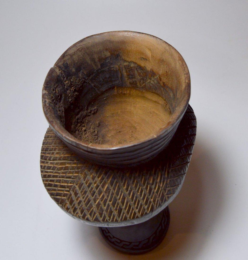 A Fine Kuba Palm wine cup w/ ancestor face, African Art - 6