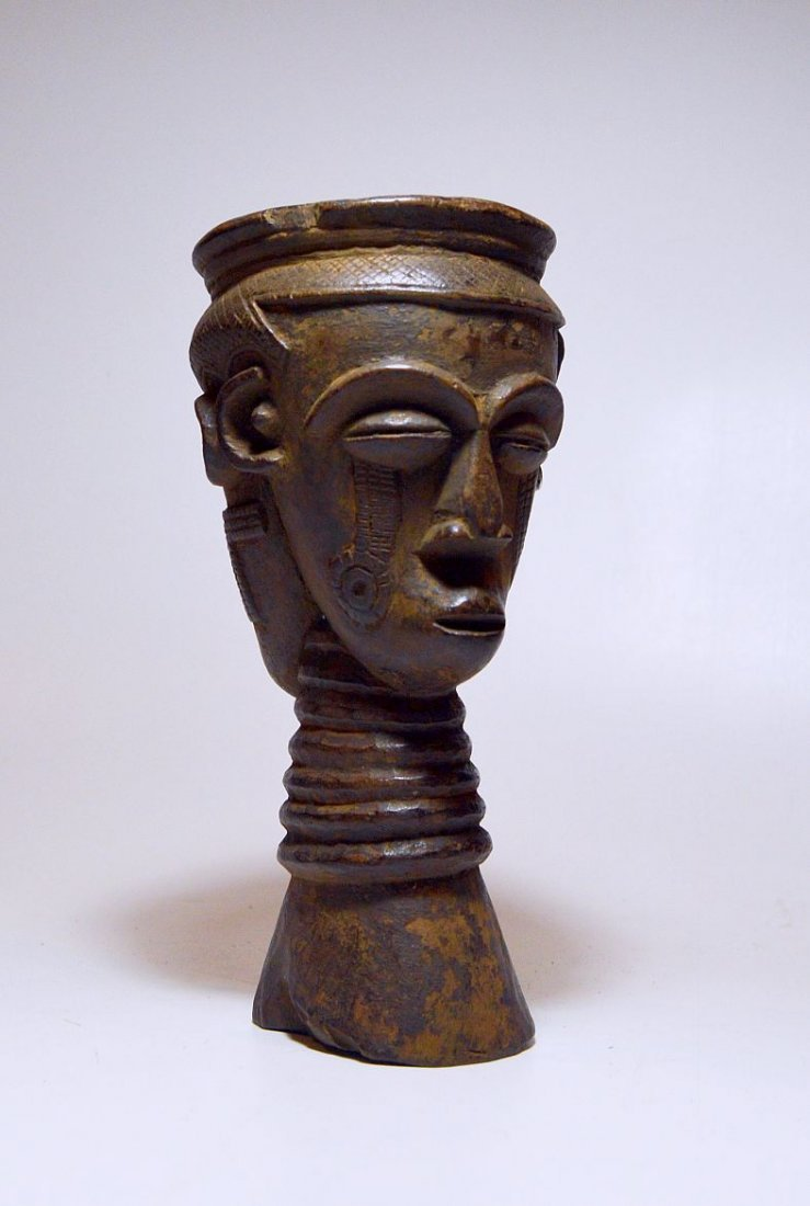Old Kuba Janus Ancestor Palm wine Cup African Art