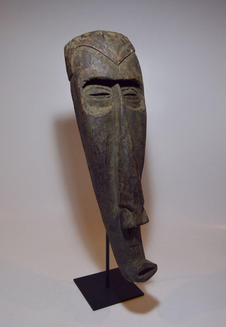 Rare Kuba Ngeende Nyibita Elongated African Mask - 2