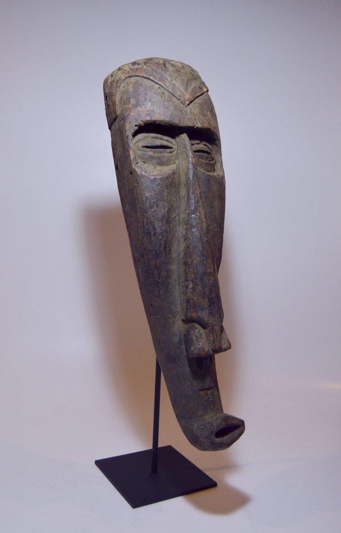 Rare Kuba Ngeende Nyibita Elongated African Mask - 3