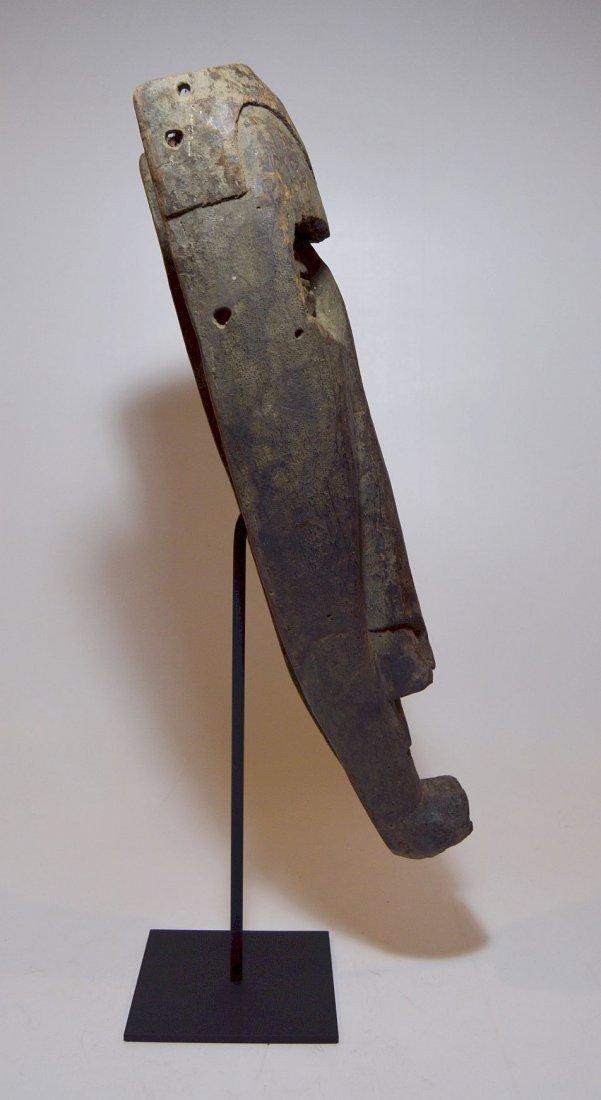 Rare Kuba Ngeende Nyibita Elongated African Mask - 4