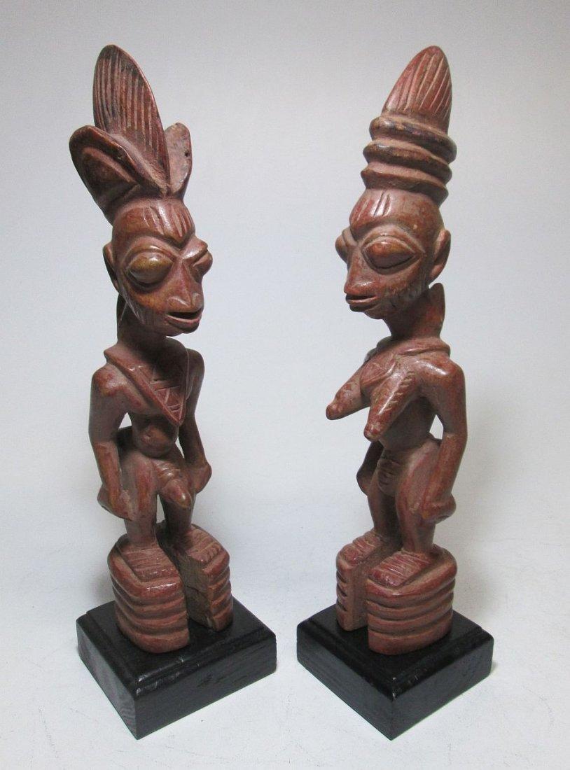 Rare pair of Yoruba Ere Ibjei twin idols, African Art - 2