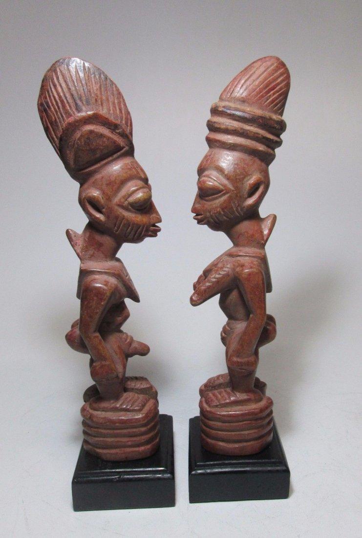 Rare pair of Yoruba Ere Ibjei twin idols, African Art - 5