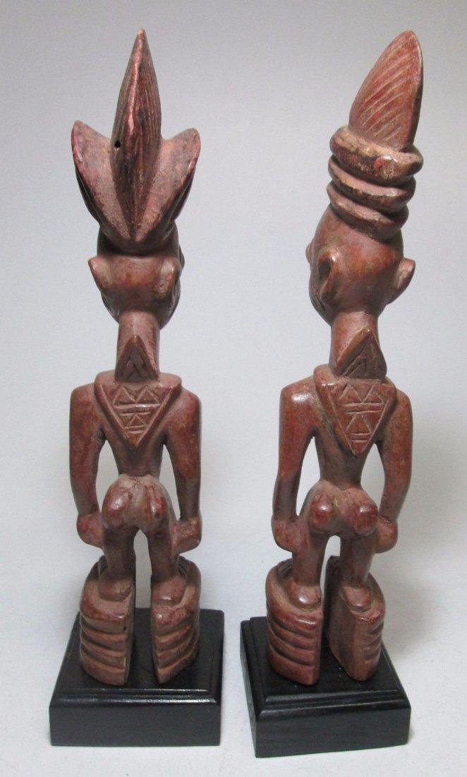 Rare pair of Yoruba Ere Ibjei twin idols, African Art - 6