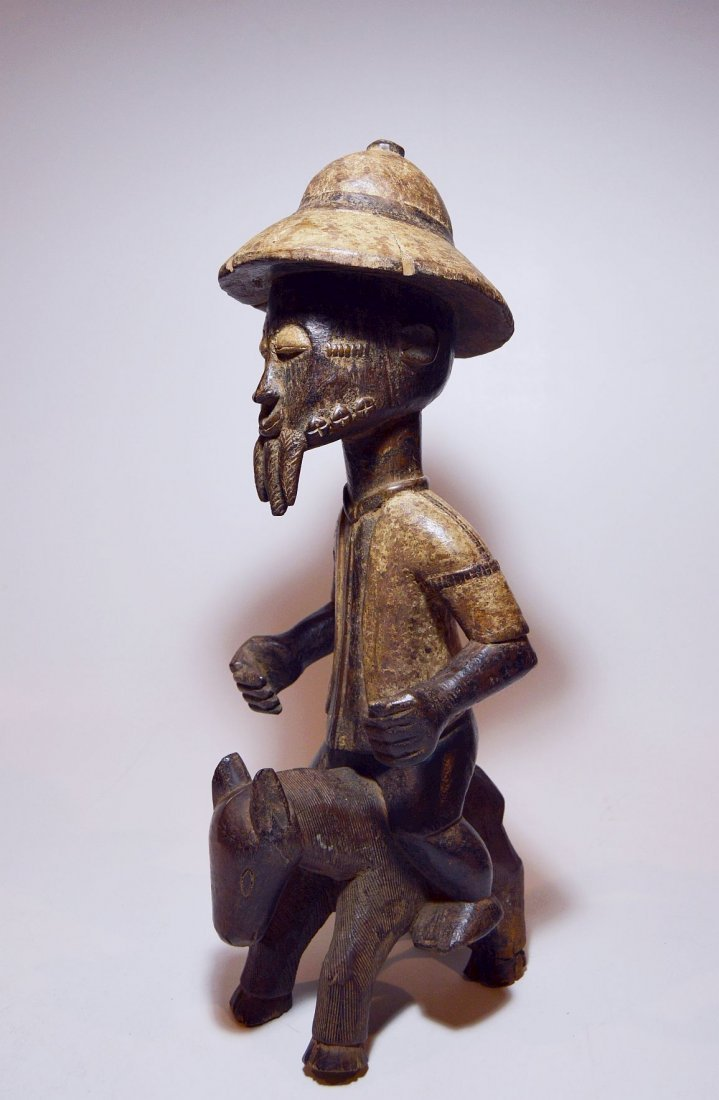 Baule Colonial style Horse & Rider, African Art