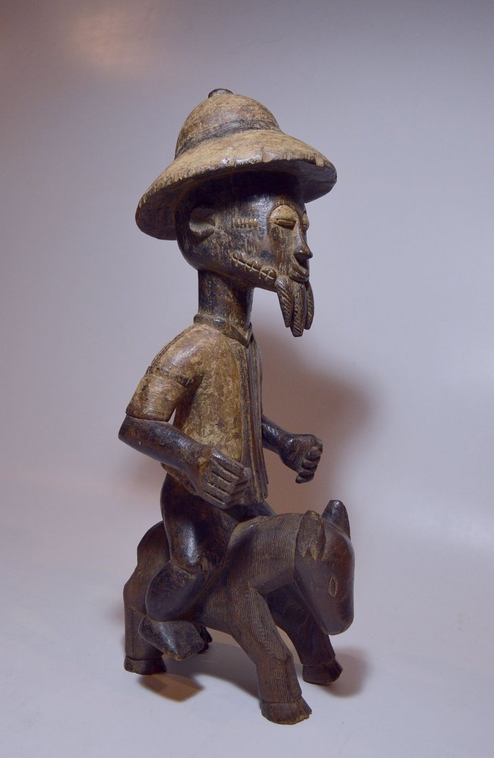 Baule Colonial style Horse & Rider, African Art - 3