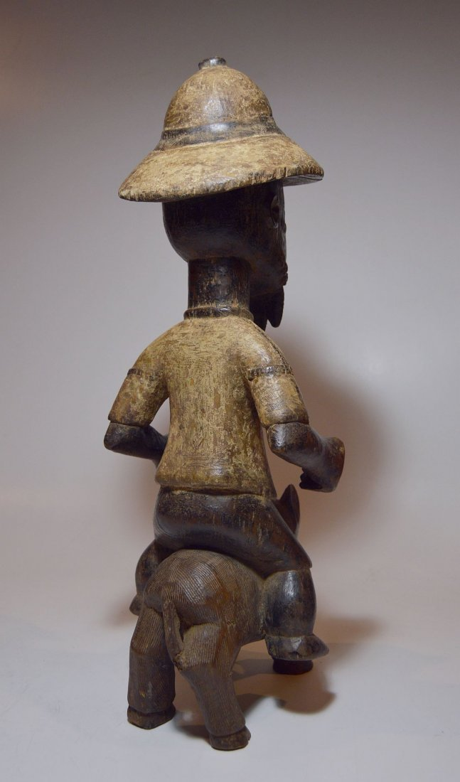 Baule Colonial style Horse & Rider, African Art - 4