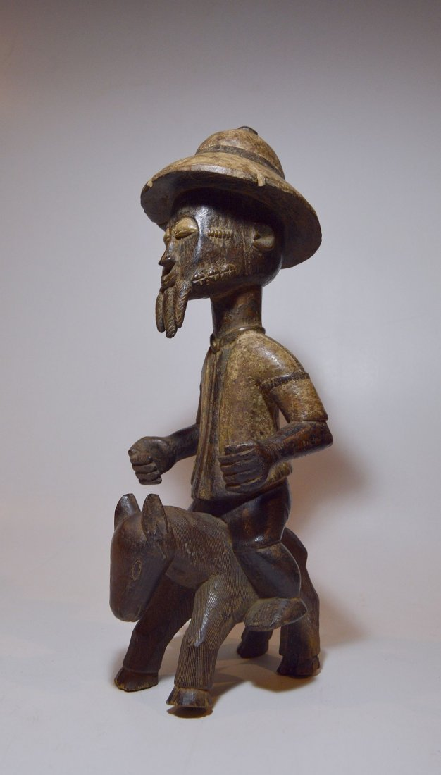 Baule Colonial style Horse & Rider, African Art - 5