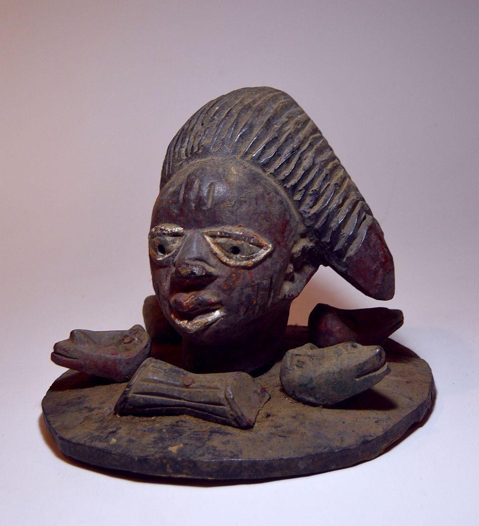 Yoruba Egungun Masquerade Dance mask, African Tribal Ar