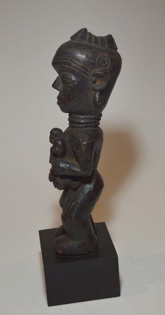 Old Lulua Maternity sculpture, African Tribal Art - 2