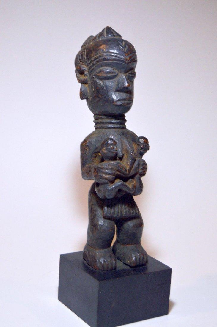 Old Lulua Maternity sculpture, African Tribal Art - 3