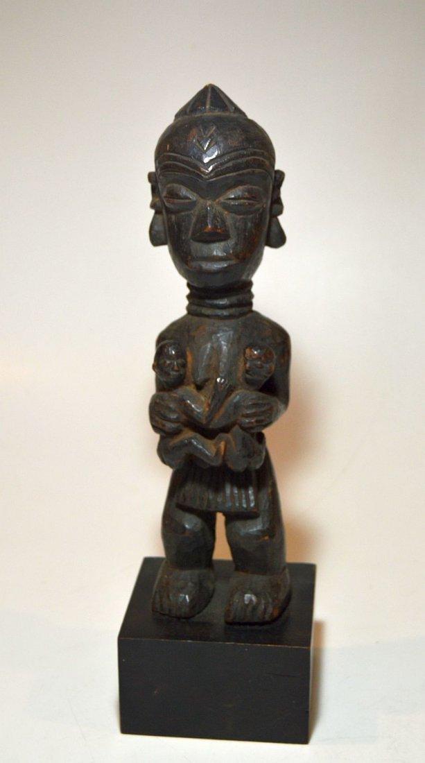 Old Lulua Maternity sculpture, African Tribal Art - 4