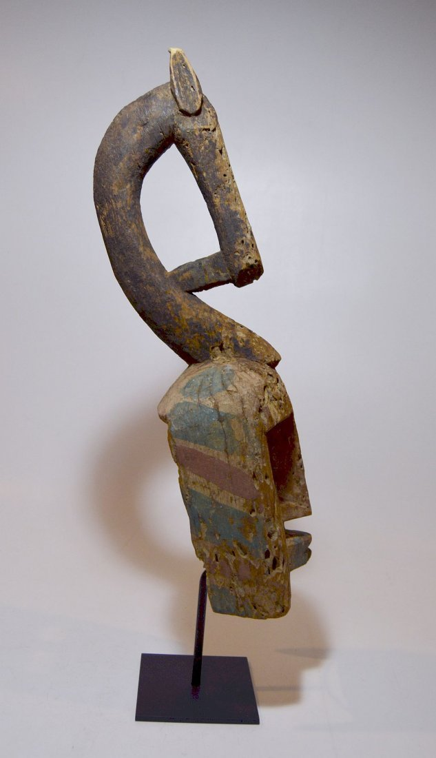 Colorful Dogon African mask w/ Equestrian Finial - 4