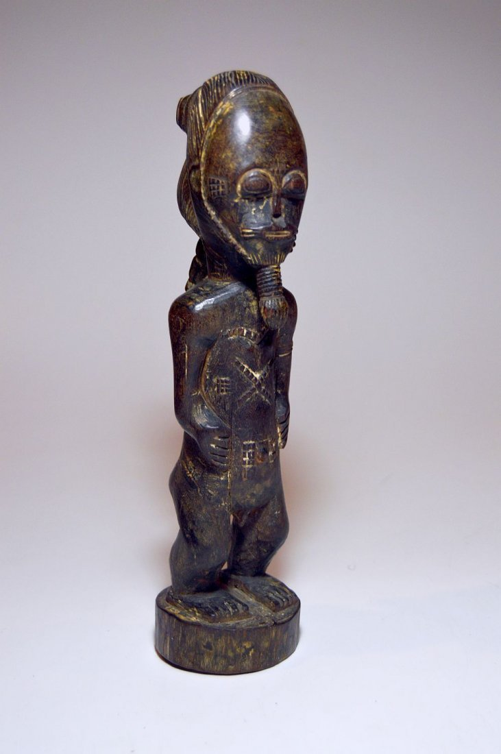 Fine Baule Akan male sculpture, African Tribal Art - 2