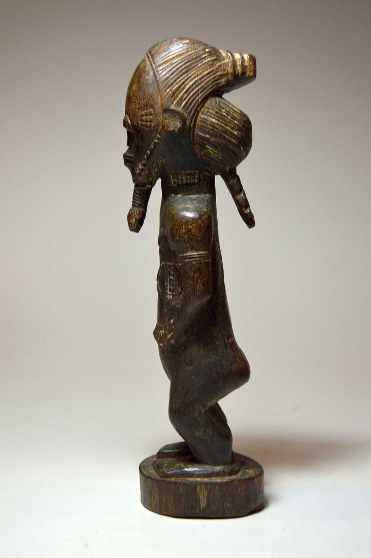 Fine Baule Akan male sculpture, African Tribal Art - 5