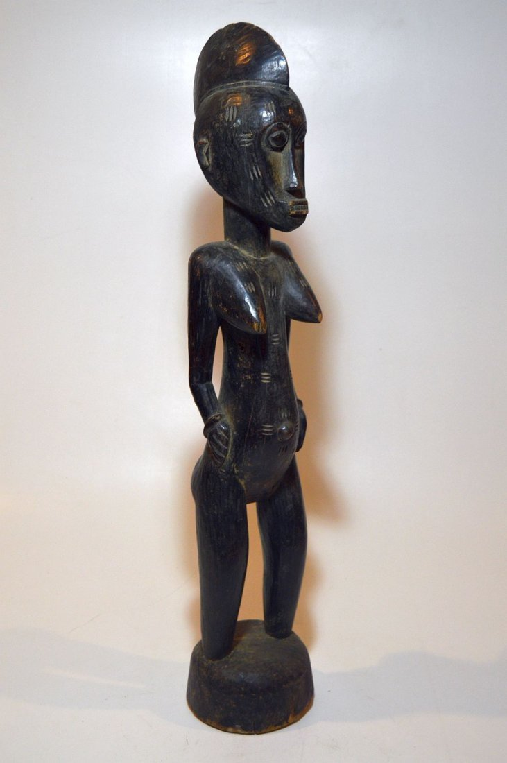 Vintage Senufo female sculpture, African Tribal Art
