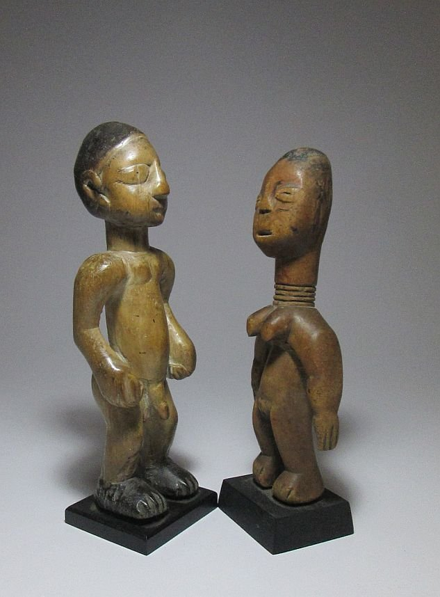 Old EWE Idols magic fetish dolls, African Art