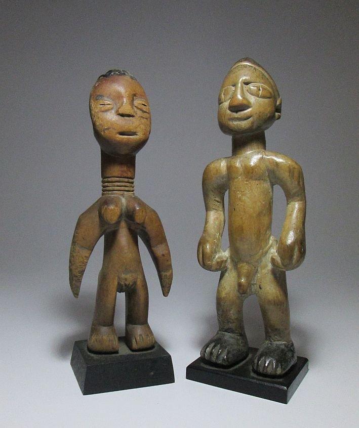 Old EWE Idols magic fetish dolls, African Art - 2