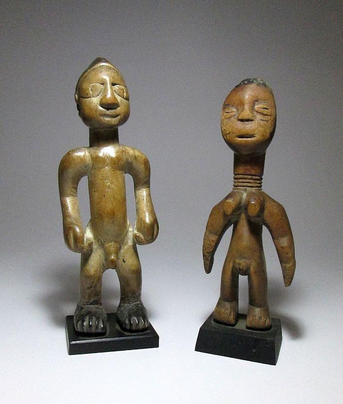 Old EWE Idols magic fetish dolls, African Art - 3
