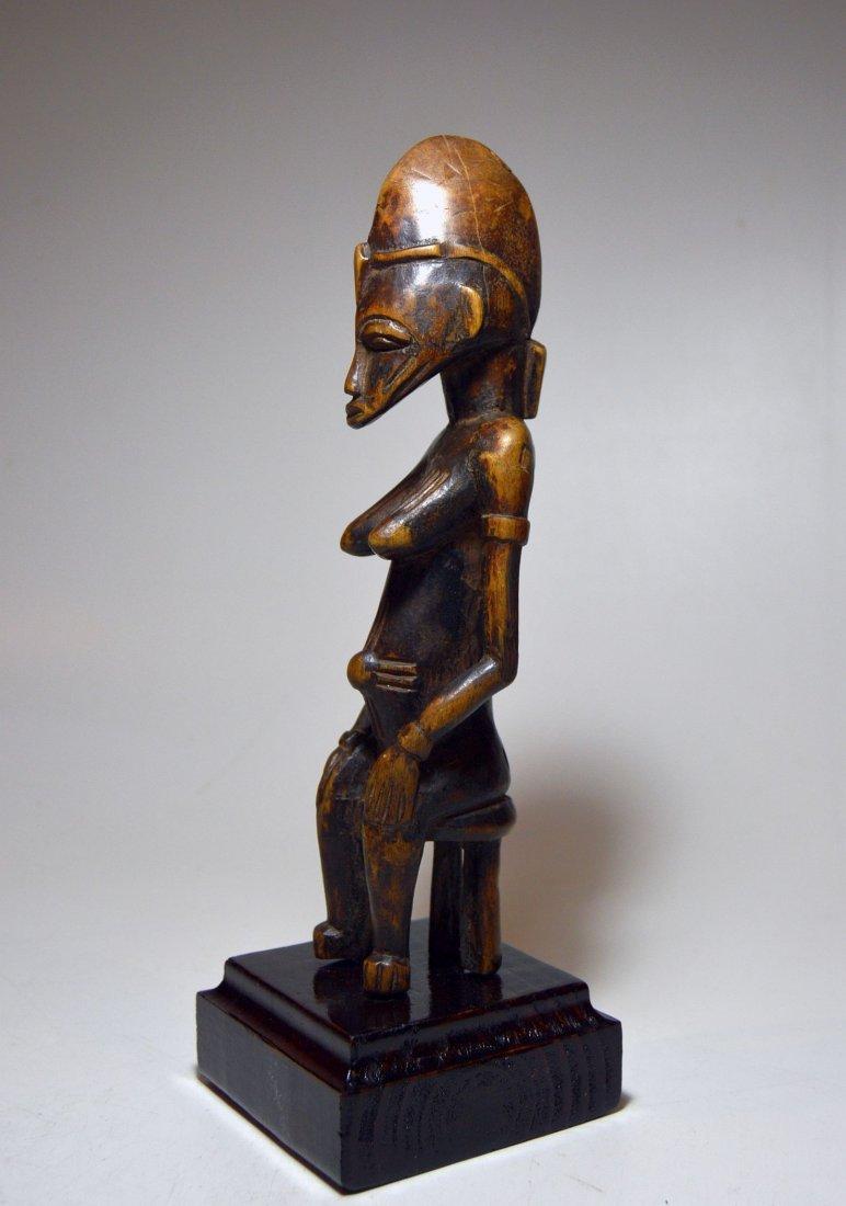 Vintage Senufo Female seated on stool, African Art