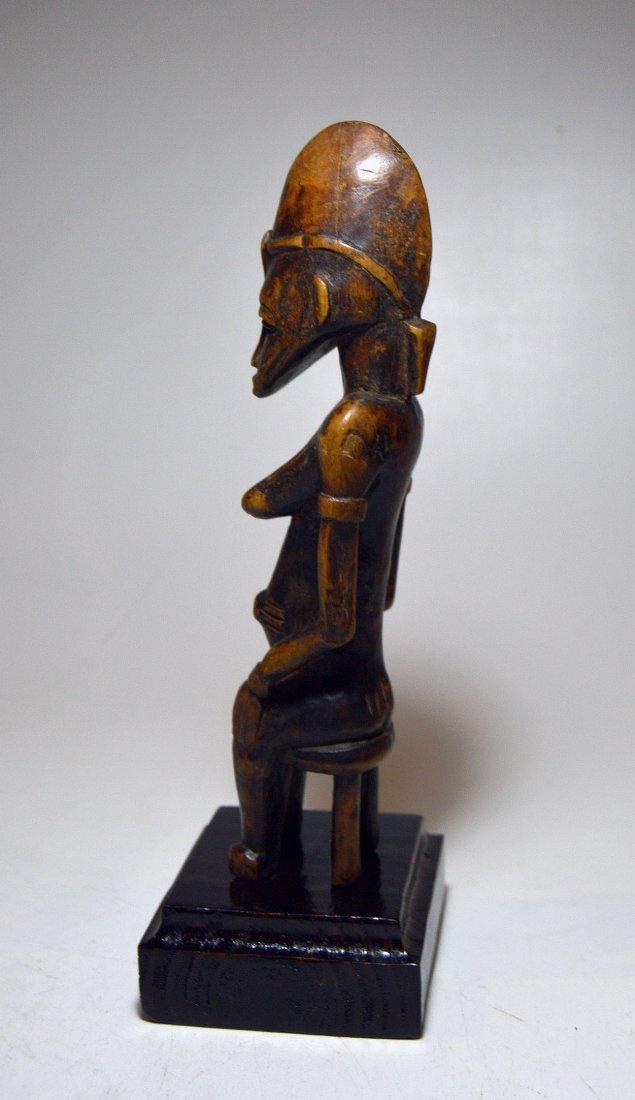 Vintage Senufo Female seated on stool, African Art - 2