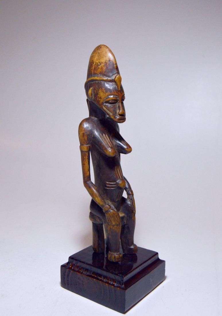 Vintage Senufo Female seated on stool, African Art - 3