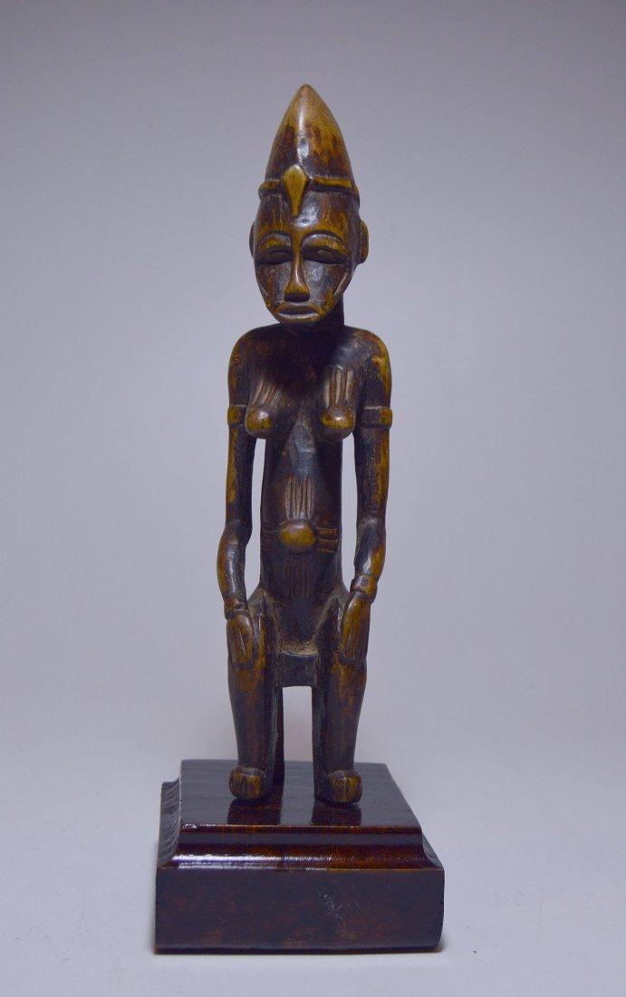 Vintage Senufo Female seated on stool, African Art - 4