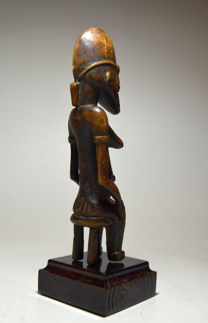 Vintage Senufo Female seated on stool, African Art - 5