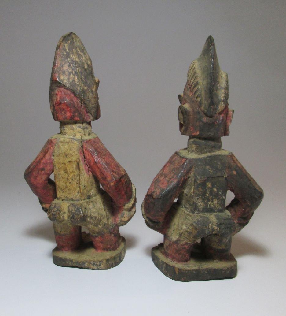 Pair of Red Idols from Yoruba of Nigeria African Art - 3