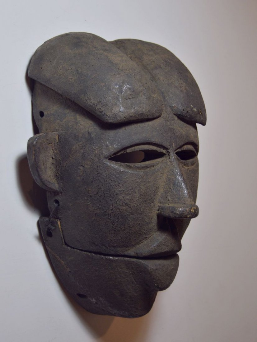 Ibibio Ekpo dance mask with articulated Jaw African Art