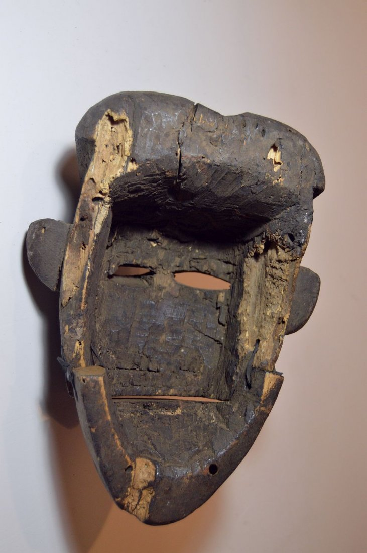 Ibibio Ekpo dance mask with articulated Jaw African Art - 2