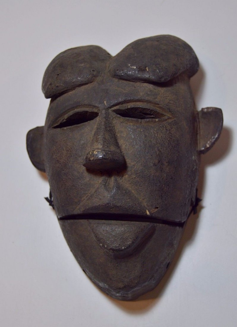 Ibibio Ekpo dance mask with articulated Jaw African Art - 3