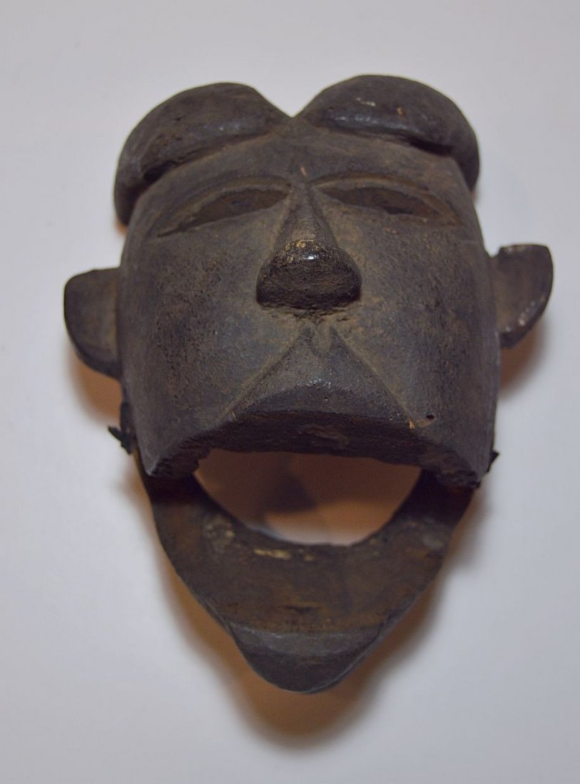Ibibio Ekpo dance mask with articulated Jaw African Art - 4