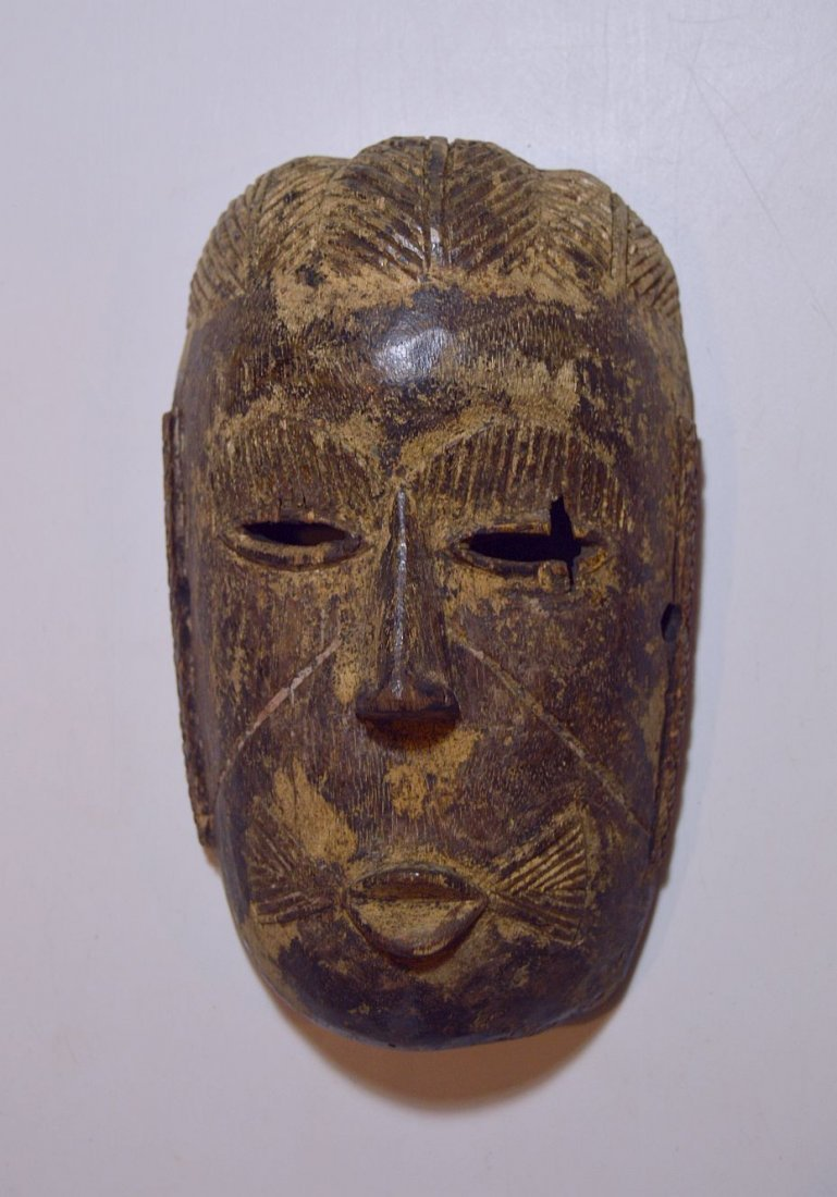 Rare old Tiv mask from Nigeria, African Tribal Art - 4