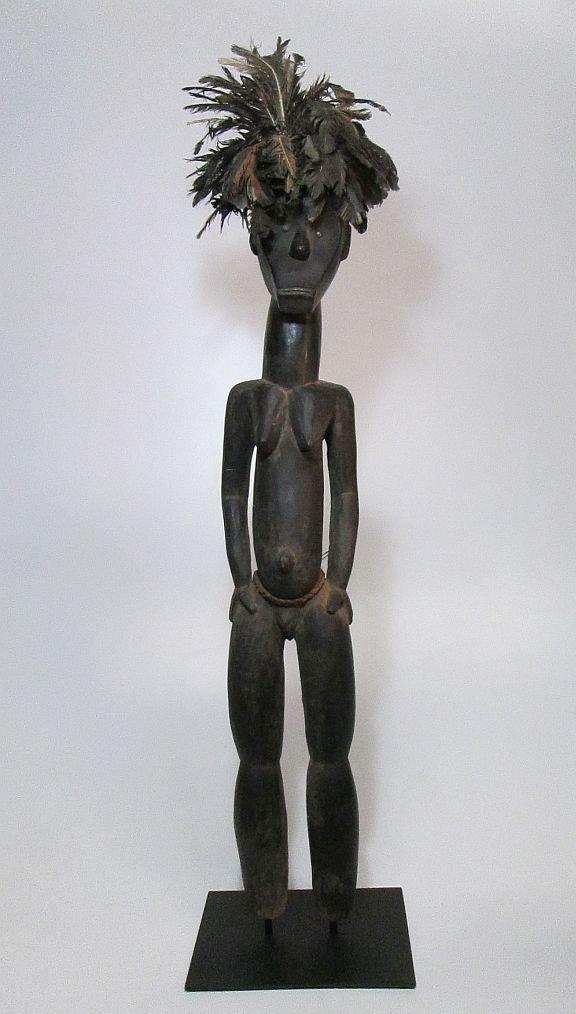Huge Fang Byeri Female ancestor sculpture, African Art