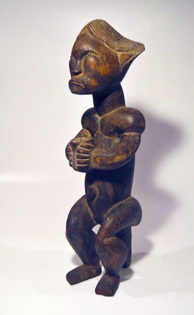 A Fine Female FANG African sculpture with upward gaze - 2