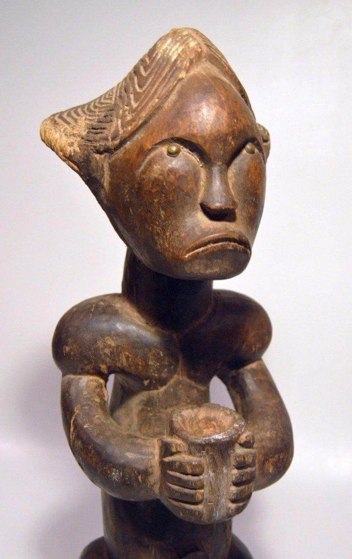 A Fine Female FANG African sculpture with upward gaze - 4