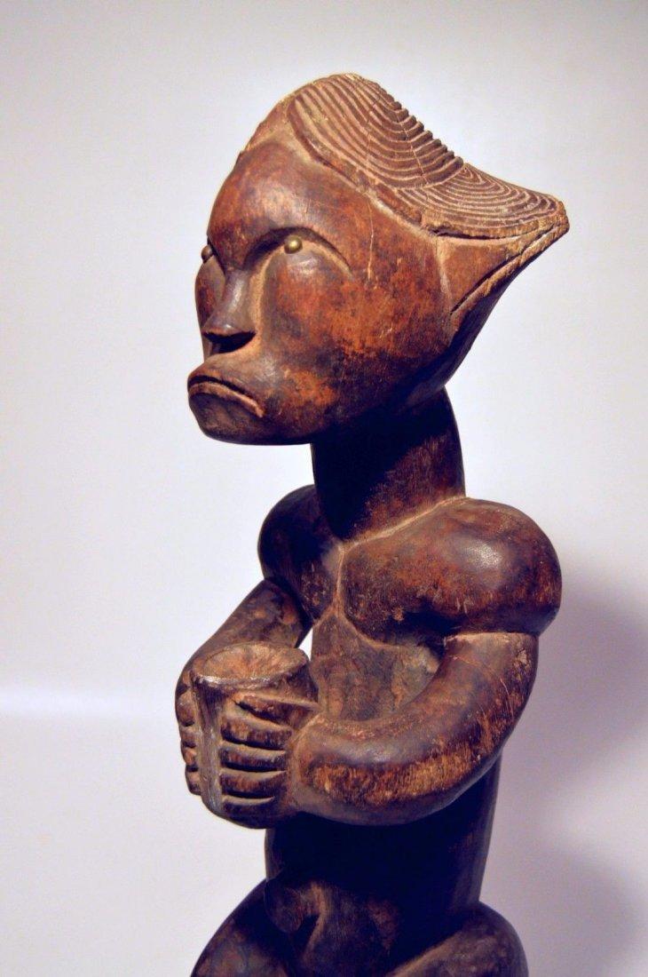 A Fine Female FANG African sculpture with upward gaze - 5