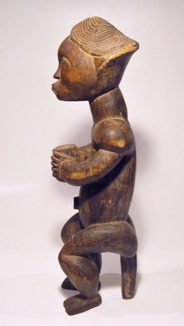 A Fine Female FANG African sculpture with upward gaze - 6
